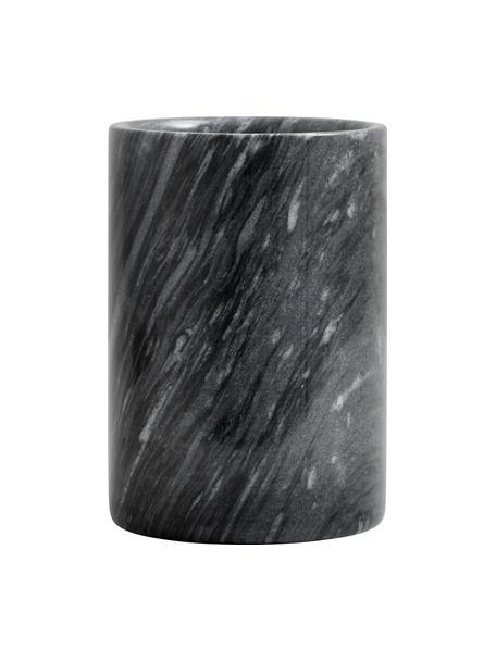Marmeren flessenkoeler Marbi in zwart, Marmer, Zwart, Ø 13 x H 18 cm