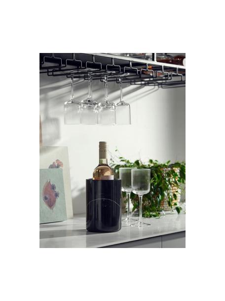 Refrigeratore bottiglie in marmo nero Marbi, Marmo, Nero, Ø 13 x Alt. 18 cm