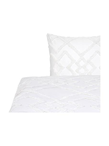 Pościel z perkalu Faith, Biały, 135 x 200 cm + 1 poduszka 80 x 80 cm