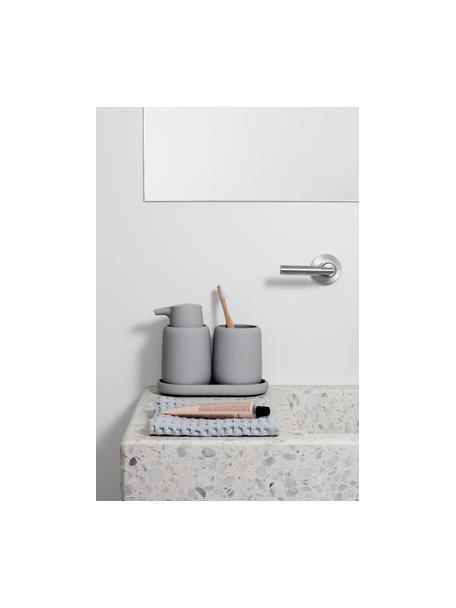 Dosificador de jabón de cerámica Sono, Cerámica, Gris, Ø 9 x Al 14 cm