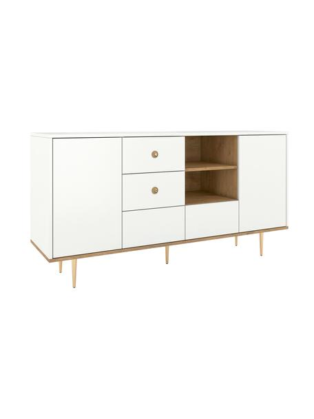 Aparador Harmoni, estilo moderno, Estructura: tablero de fibra de alta , Blanco, An 160 x Al 83 cm