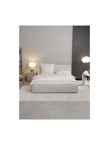 Gestoffeerd bed Cloud in beige, Frame: Massief grenenhout en hou, Bekleding: Fijn gestructureerde gewe, Geweven stof beige, 160 x 200 cm