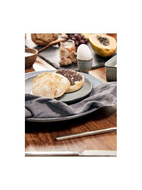 Ręcznie wykonany kieliszek do jajek z kamionki Nordic Sea, 2szt., Kamionka, Odcienie szarego, odcienie niebieskiego, Ø 5 x W 6 cm