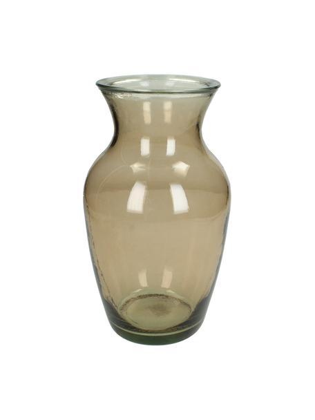 Glazen vaas Alexandrine, Glas, Bruin, Ø 14 x H 27 cm