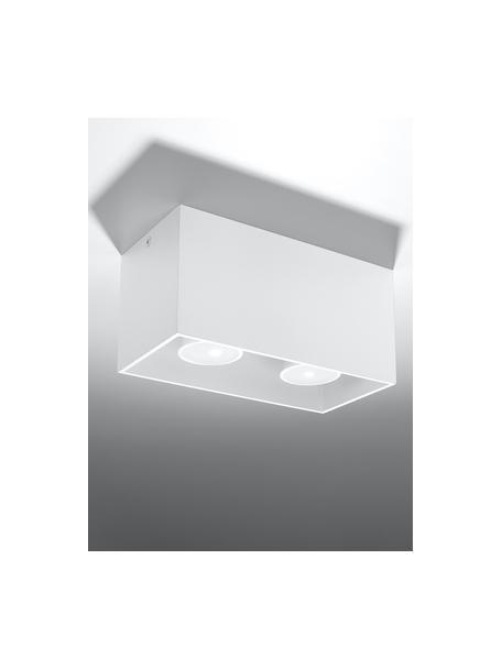 Kleiner Deckenstrahler Geo in Weiss, Weiss, 20 x 10 cm