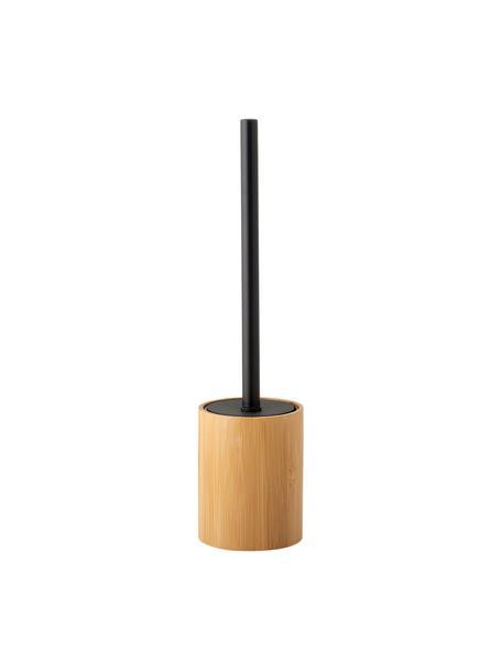 Scopino Beckton, Contenitore: bambù, Manico: metallo, Legno di bambù, nero, Ø 9 x Alt. 38 cm