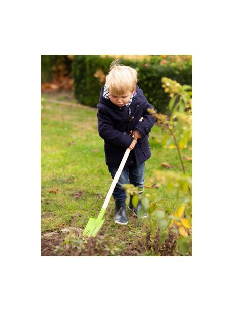 Kinderspade Little Gardener, Hout, gecoat metaal, Groen, beige, 14 x 81 cm