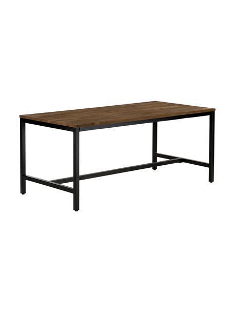 Mesa de comedor Raw, tablero de madera maciza de mango, Tablero: madera de mango maciza ce, Estructura: hierro con pintura en pol, Madera de mango, negro, An 180 x F 90 cm