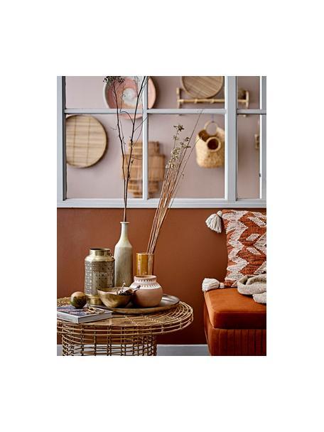 Vaso alto elegante in gres Anos, Gres, Arancione iridescente, Ø 9 x Alt. 25 cm
