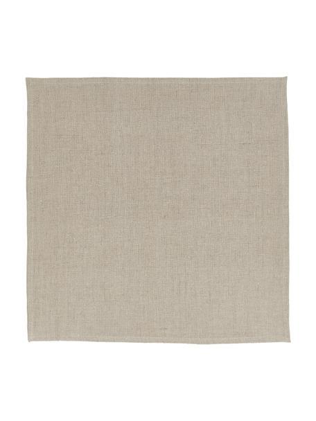 Serwetka z lnu Heddie, 2 szt., 100% len, Beżowy, S 45 x D 45 cm