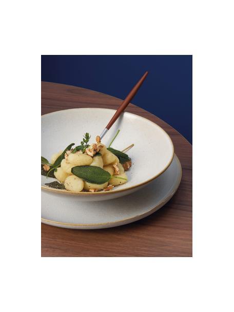 Suppenteller Saisons aus Steingut in Beige Ø 23 cm, 6 Stück, Steingut, Beige, Ø 23 x H 7 cm