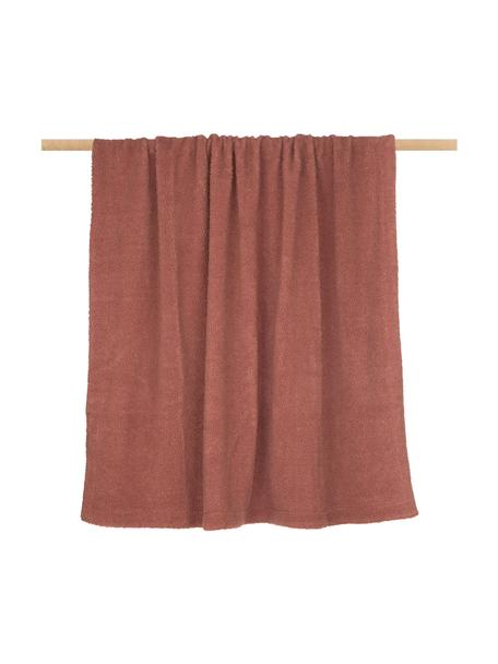 Teddy-Plaid Mille, Vorderseite: 100% Polyester (Teddyfell, Rückseite: 100% Polyester, Terrakotta, 150 x 200 cm