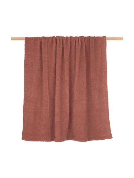 Teddy plaid Mille, Bovenzijde: 100% polyester (teddyvach, Onderzijde: 100% polyester, Terracottakleurig, 150 x 200 cm
