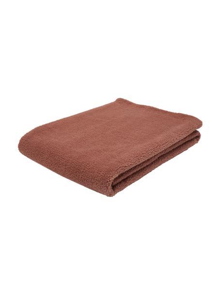 Teddy-Plaid Mille in Terrakotta, Vorderseite: 100% Polyester (Teddyfell, Rückseite: 100% Polyester, Terrakotta, 150 x 200 cm