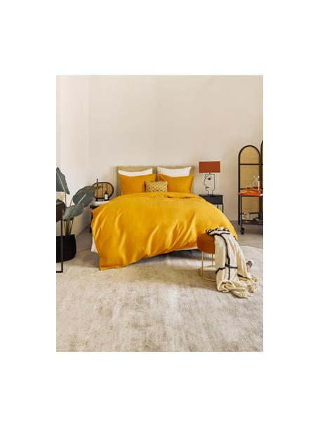 Lámpara de mesa grande Face Orange, Pantalla: algodón, Estructura: acero con pintura en polv, Cable: cubierto en tela, Naranja, negro, An 40 x Al 66 cm