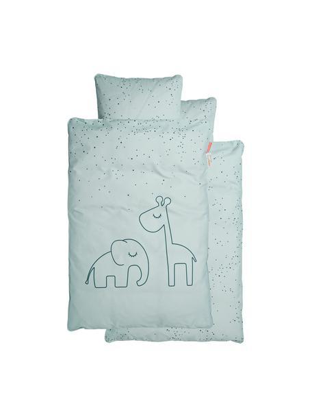 Pościel do łóżeczka Dreamy Dots, 100% bawełna, certyfikat Oeko-Tex, Niebieski, 100 x 140 cm + 1 poduszka 40 x 60 cm