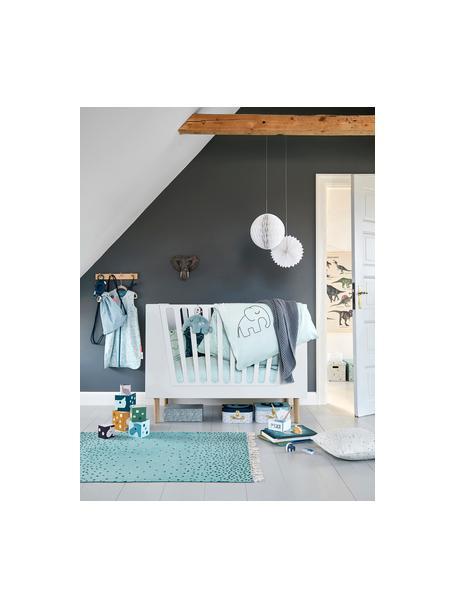 Biancheria da letto Dreamy Dots, 100% cotone, certificato Oeko-Tex, Blu, 100 x 140 cm + 1 cuscino 40 x 60 cm