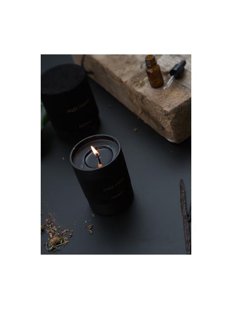 Duftkerze Nuit Noire (Jasmin & Moschus), Behälter: Glas, beflockt, Schwarz, Ø 8 x H 10 cm