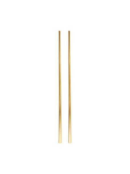 Palillos chinos Shine, 2pares, Acero inoxidable, Dorado, L 23 cm