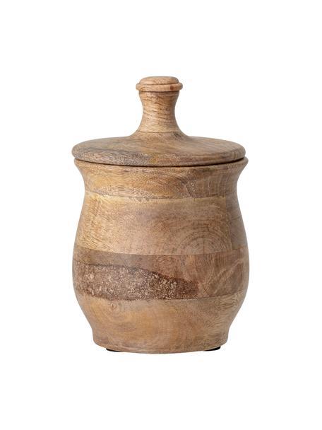 Pojemnik do przechowywania z drewna mangowego Viktoria, Drewno mangowe, Brązowy, Ø 13 x W 21 cm