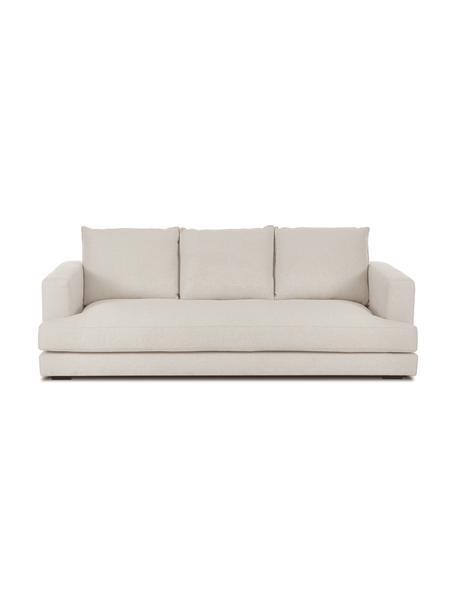 Sofa Tribeca (3-Sitzer) in dunklem Beige, Bezug: 100% Polyester Der hochwe, Gestell: Massives Buchenholz, Füße: Massives Buchenholz, lack, Webstoff dunkles Beige, B 228 x T 104 cm