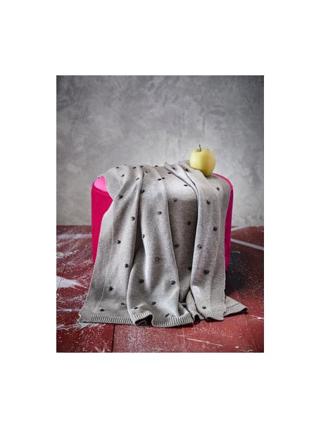 Manta bebé Alessia, 100% algodón orgánico, Gris, An 80 x L 100 cm