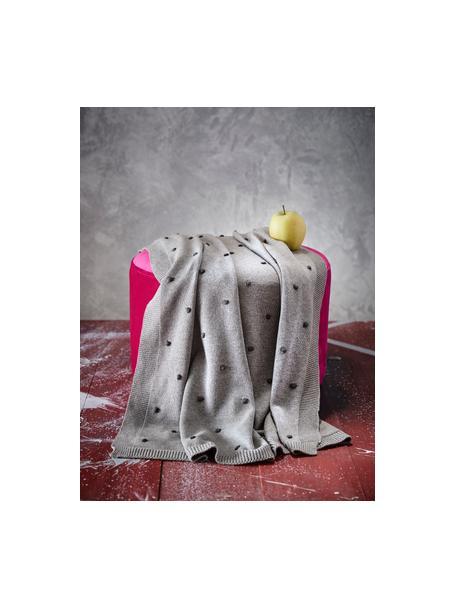 Plaid per bambini Alessia, 100% cotone organico, Grigio, Larg. 80 x Lung. 100 cm