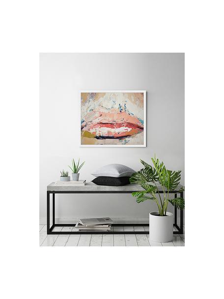 Stampa digitale incorniciata Kiss Me, Immagine: stampa digitale su carta,, Cornice: legno verniciato, Multicolore, Larg. 63 x Alt. 53 cm