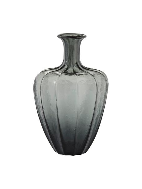 Wazon ze szkła Miyanne, Szkło, Ciemnyszary, transparentny, Ø 23 x W 35 cm