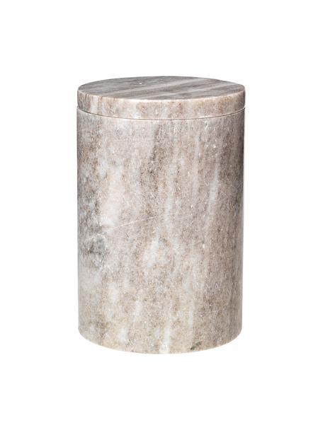 Marmor Aufbewahrungsdose Osvald, Marmor, Hellbraun, Ø 10 x H 15 cm