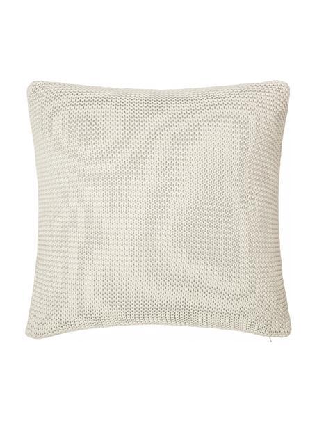 Funda de cojín de punto Adalyn, 100%algodón, Blanco natural, An 40 x L 40 cm