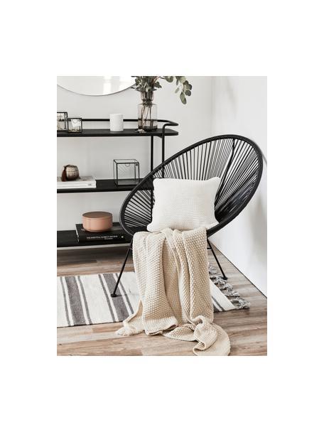 Dzianinowa poszewka na poduszkę z bawełny organicznej  Adalyn, 100% bawełna organiczna, certyfikat GOTS, Naturalny biały, S 40 x D 40 cm