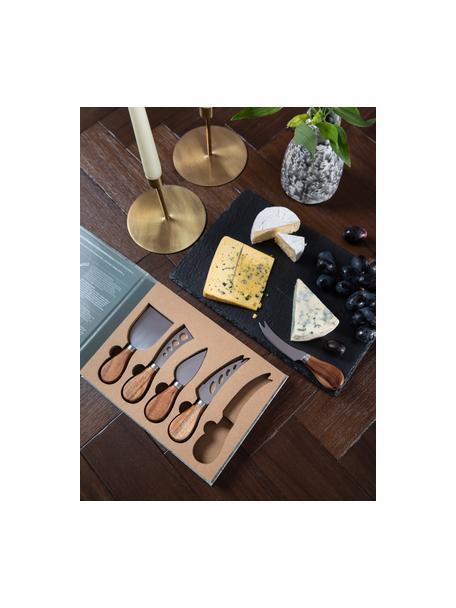 Set da formaggio in acciaio inossidabile Frija 5 pz, Legno di acacia, acciaio inossidabile, Set in varie misure