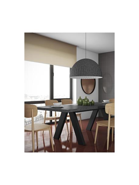 Verlängerbarer Esstisch Apex in Beton-Optik, Tischplatte: Leichtbau-Wabenstruktur, , Beine: Mitteldichte Holzfaserpla, Beton-Optik, B 200 bis 250 x T 100 cm