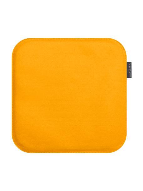 Poduszka na siedzisko z filcu Avaro Square, 4 szt., Brunatnożółty, S 35 x D 35 cm