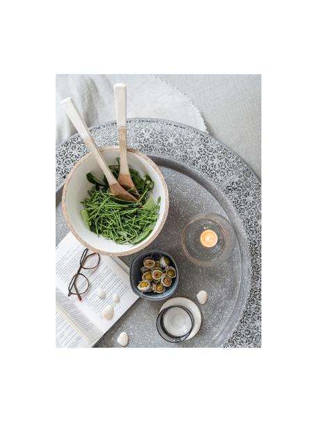 Saladebestekset Lugo van mangohout, 2-delig, Mangohout, Wit, mangohoutkleurig, L 30 cm