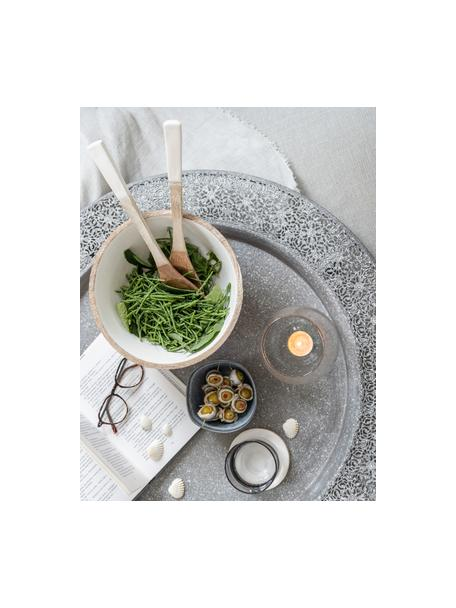Salatbesteck Lugo aus Mangoholz, 2er-Set, Mangoholz, beschichtet, Weiss, Mangoholz, L 30 cm
