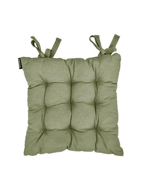 Cuscino sedia in tinta unita Panama, Rivestimento: 50% cotone, 45% poliester, Verde salvia, Larg. 45 x Lung. 45 cm