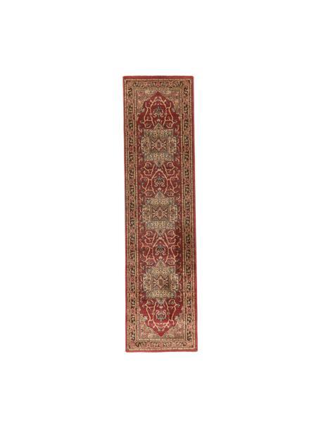 Loper Alberto in Oriënt stijl, 100% polypropyleen, Rood, multicolour, 62 x 240 cm