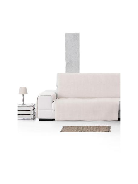 Funda de sofá Levante, 65%algodón, 35%poliéster, Crema, Brazo corto (150 x 240 cm