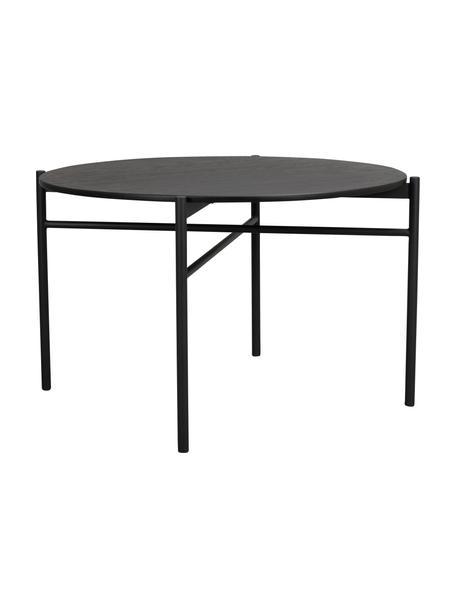 Tavolo rotondo nero Skye, Piano d'appoggio: pannello in fibra di medi, Gambe: metallo verniciato a polv, Nero, Ø 120 x Alt. 75 cm