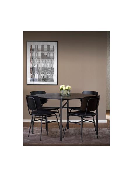 Okrągły stół do jadalni Skye, Blat: płyta pilśniowa średniej , Nogi: metal malowany proszkowo, Czarny, Ø 120 x W 75 cm
