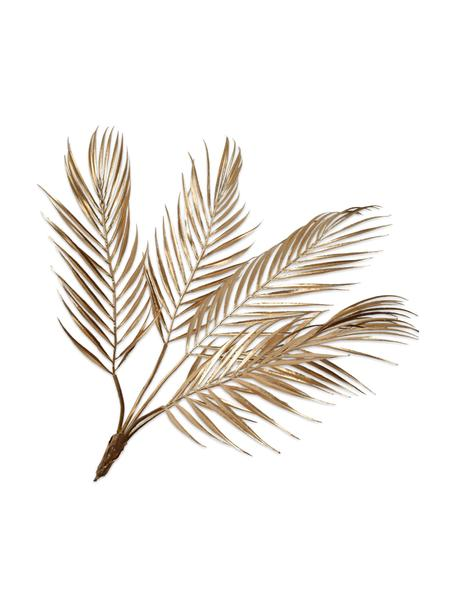 Kunst-Palmwedel, Goldfarben, Kunststoff, Metalldraht, Goldfarben, L 61 cm