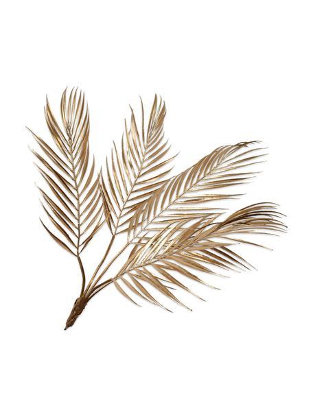 Kunstzweig Palme, Goldfarben, Kunststoff, Metalldraht, Goldfarben, L 61 cm