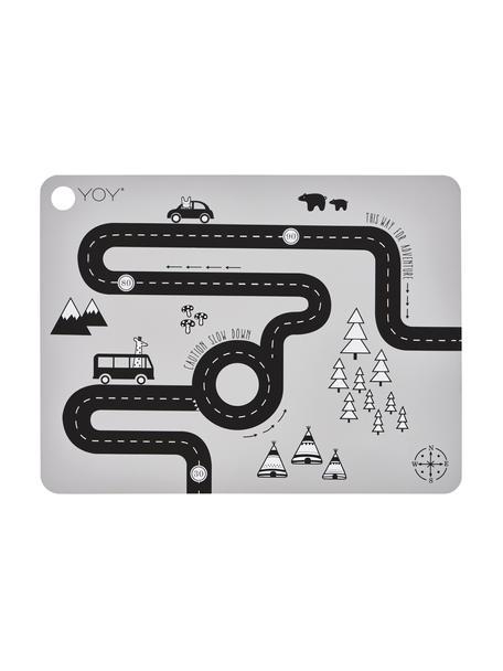 Podkładka Adventure, Silikon, Szary, czarny, biały, S 34 x D 45 cm