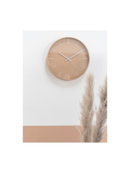 Zegar ścienny Alex, Tworzywo sztuczne, Jasny brązowy, Ø 41 cm