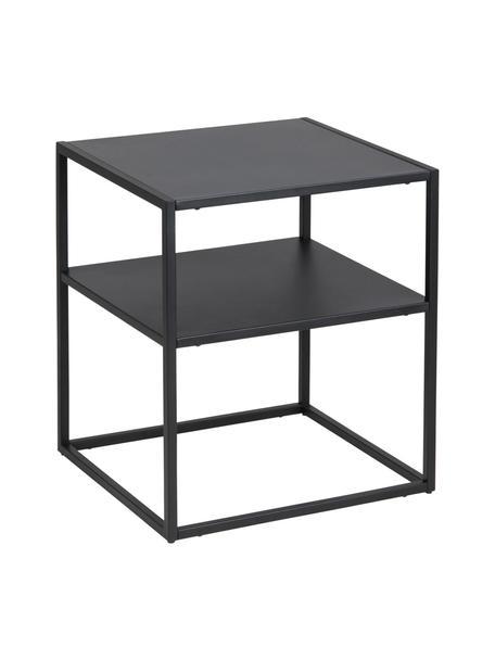 Mesa auxiliar de metal Newton, Metal con pintura en polvo, Negro, An 45 x F 40 cm