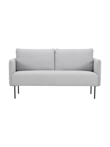 Sofa Ramira (2-Sitzer) in Hellgrau mit Metall-Füessn, Bezug: Polyester 40.000 Scheuert, Gestell: Massives Kiefernholz, Spe, Webstoff Hellgrau, B 151 x T 76 cm