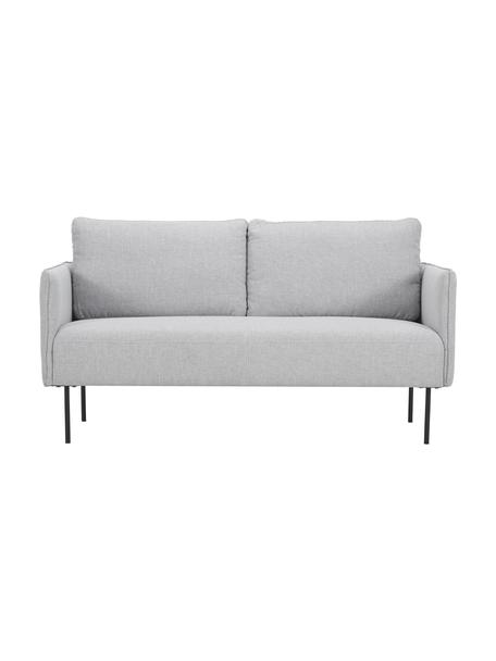Sofa Ramira (2-Sitzer) in Hellgrau mit Metall-Füßen, Bezug: Polyester 40.000 Scheuert, Gestell: Massives Kiefernholz, Spe, Füße: Metall, pulverbeschichtet, Webstoff Hellgrau, 151 x 79 cm