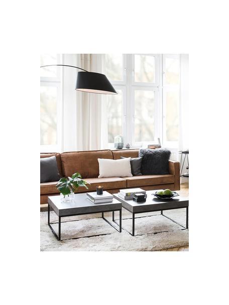Sofa Hunter (4-Sitzer) in Braun aus recyceltem Leder, Bezug: Recyceltes Leder (70% Led, Gestell: Massives Birkenholz und h, Leder Braun, B 264 x T 90 cm